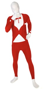 Roter Tuxedo bei Morphsuit Promotion
